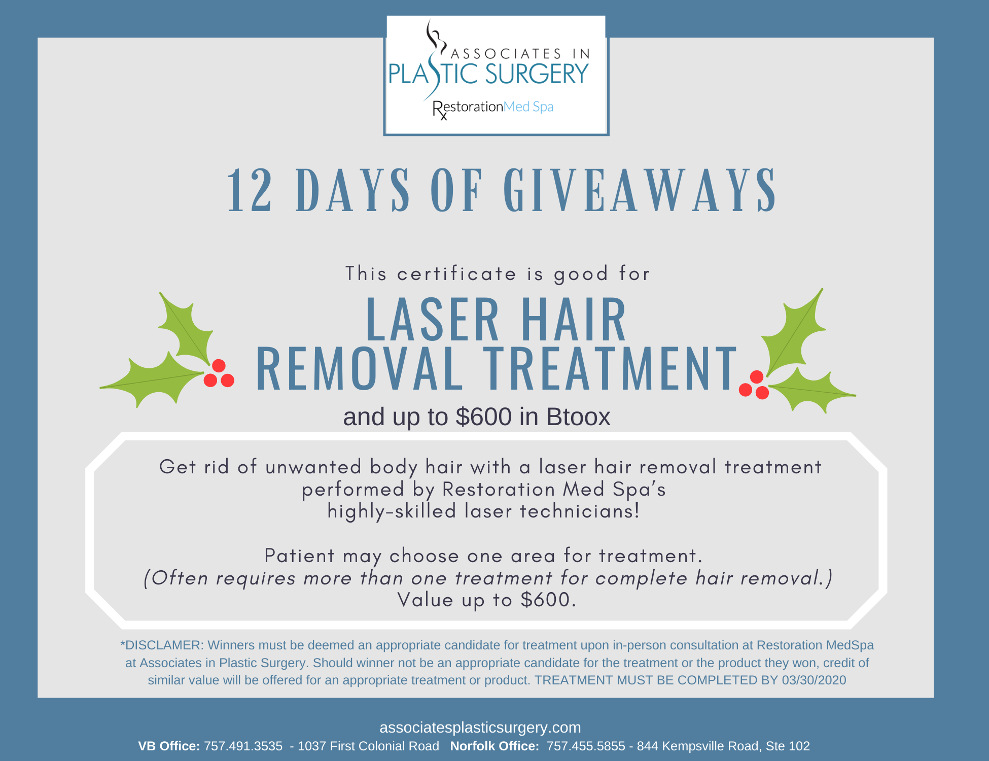 Day-10-Virginia-Beach-MedSpa-Holiday-Special-One-Laser-Hair-Removal-Treatment