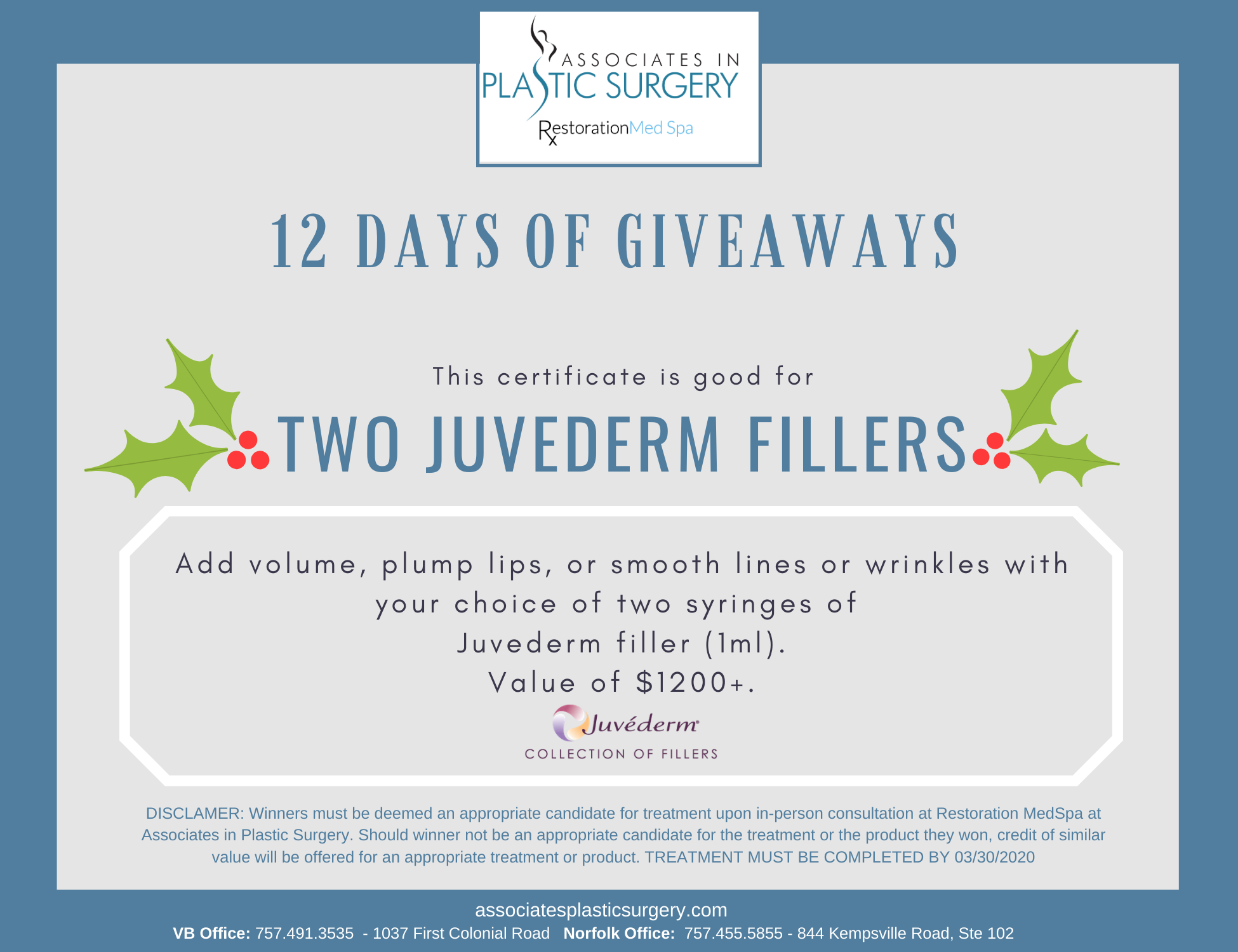 Day-4-Virginia-Beach-MedSpa-Holiday-Special-Two-Juvederm-Fillers