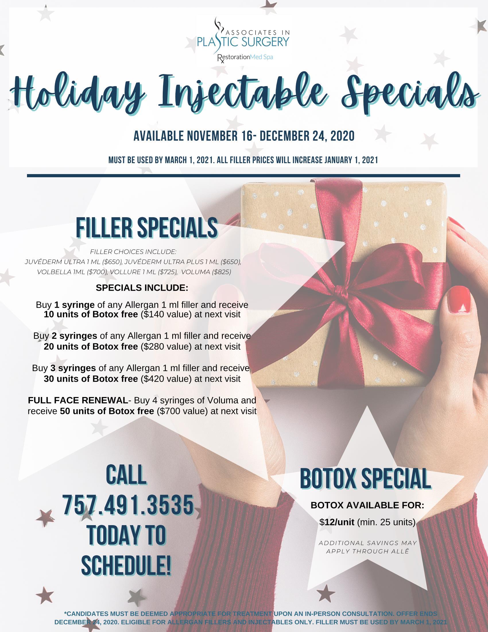 Nurse's Holiday Special 2020-Virginia-Beach-MedSpa-Special